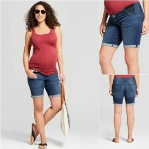 Isabel Maternity Bermuda Shorts With Stretch panel